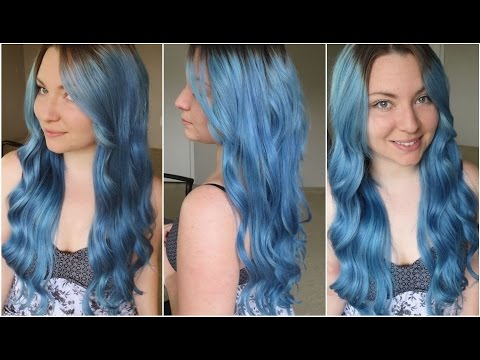 How I Dyed My Hair Pale Blue | Ion Color Brilliance Shark Blue & Azure