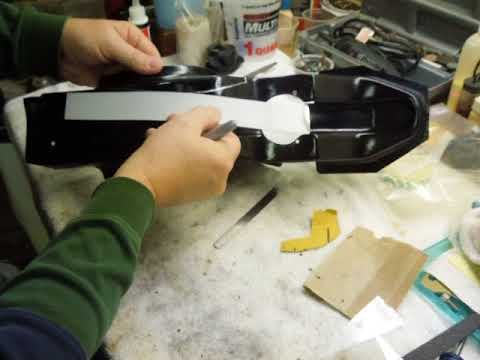 How to cut straight lines on compound curved surfaces.