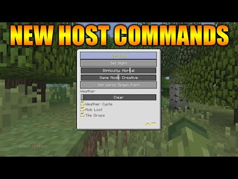 ★Minecraft Xbox 360 + PS3: TU25 Update All New Host Privileges & Commands Explained★