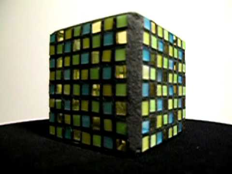 Four Color Mosaic Candle Holder