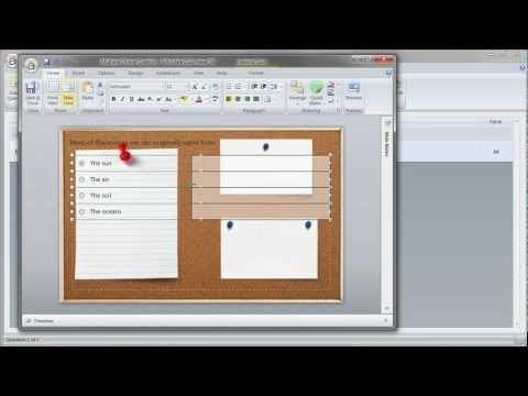 Customizing your quiz backgrounds using PowerPoint