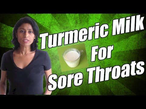 Tumeric Milk Recipe - Turmeric milk recipe, what helps a sore throat?