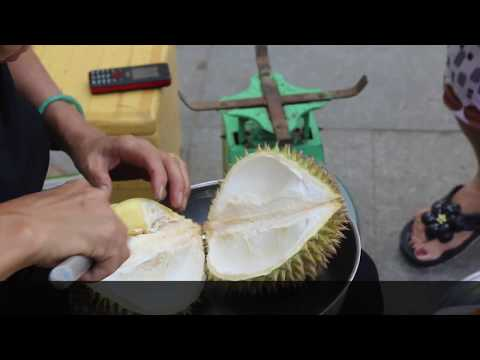 How to Open a Durian Fruit