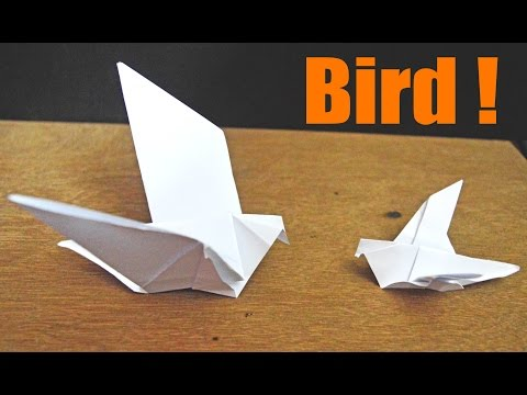 Easy Make an Origami Flapping Bird use Paper.