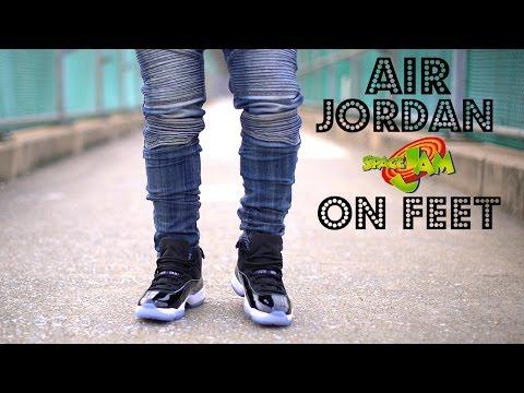AIR JORDAN 11 SPACE JAM ON FEET 2016