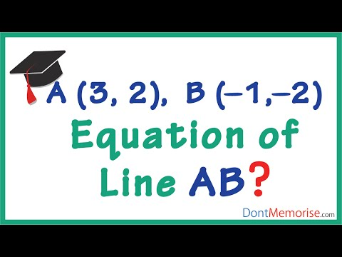Finding the Equation of a Line(Given the coordinates) ( GMAT / GRE / CAT / Bank PO / SSC CGL)
