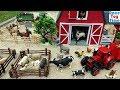 Farm Animal Toys In The Sandbox Fun Toy Animals For Kids