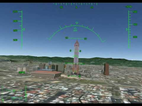 How to show 3D buildings in Google Earth Flight Simulator