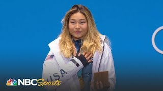 Medal ceremony: Chloe Kim gets her gold medal