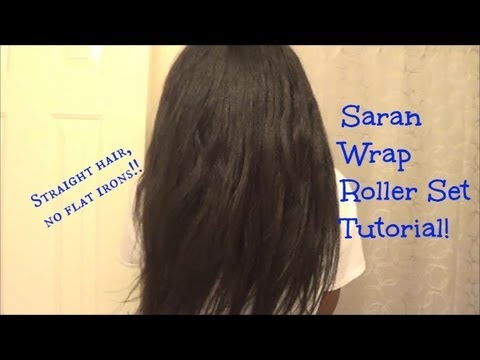 Saran Wrap Roller Set UPDATED   Relaxed Hair