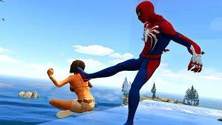 GTA 5 Water Ragdolls   SPIDERMAN Funny Moments (Euphoria physics)
