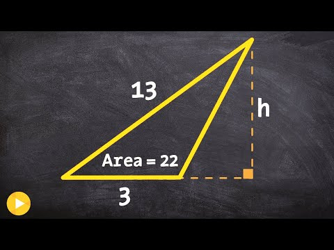 How to determine the height of a triangle when given the area