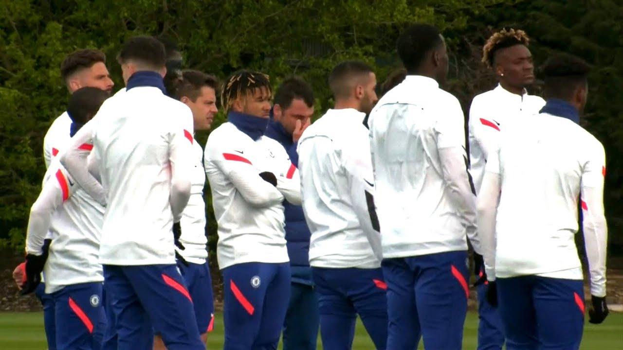 Chelsea Players Train Ahead of Real Madrid Champions League Semi-Final Clash