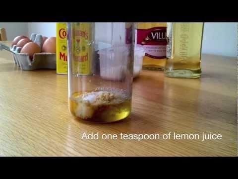 2 minute homemade mayonnaise