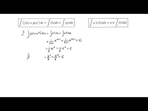 IB HL Math integrating sums of functions and functions being multiplied by a constant
