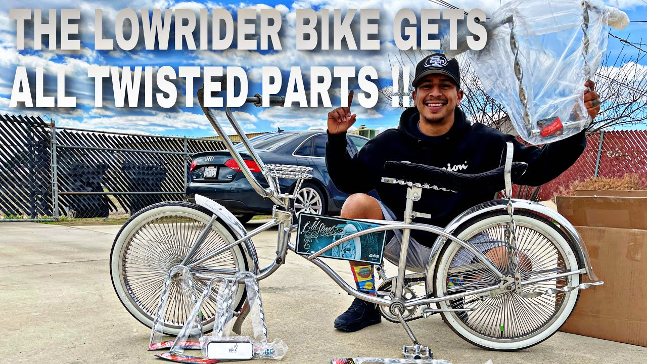 The LOWRIDER BIKE GETS ALL TWISTED NEW PARTS !!