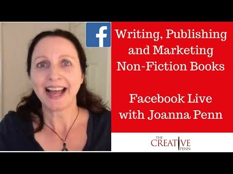 Writing, Publishing and Marketing Non-Fiction Books. Facebook Live Q&A With Joanna Penn