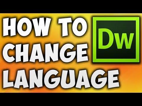 How To Change Dreamweaver Language - Best Way To Change Language In Dreamweaver