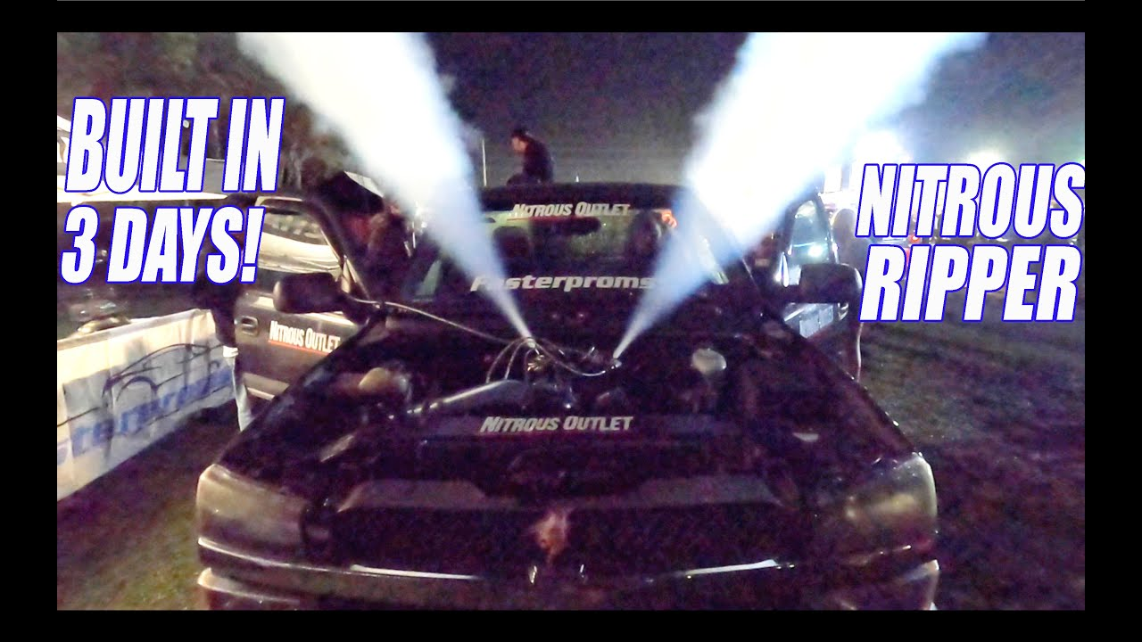 George's Blown Up Burnout Truck RODney Is Back Together W/ NITROUS! How Will It Do?