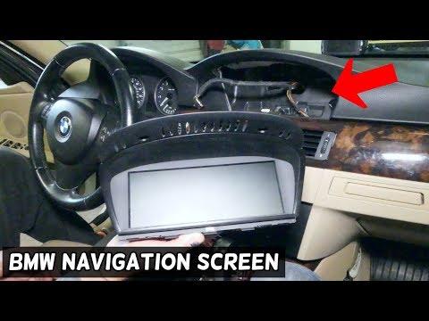 HOW TO REMOVE AND REPLACE NAVIGATION IDRIVE SCREEN ON BMW E90 E92 E91 E93