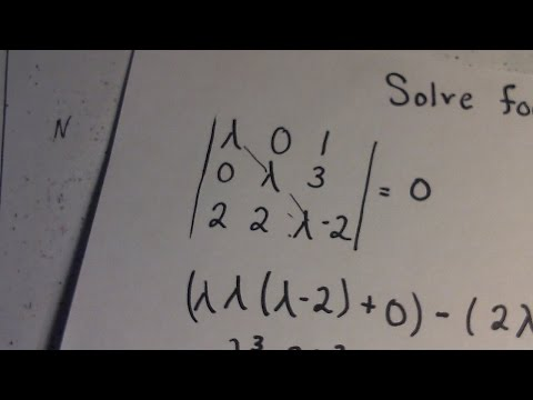 Linear Algebra | Determinant | Solving for 'lambda'