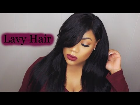 How To Cut & Style Side Swept Bangs Ft Lavy Hair Lace Frontal | Peruvian Straight Update