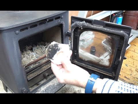 Cleaning Stove Glass   Easy Peasy