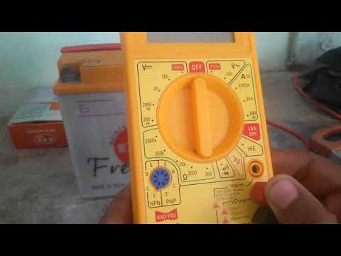 12v discharge battery testing with multimeter