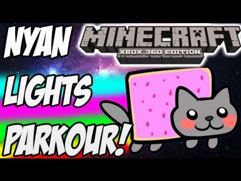 Nyan Lights Parkour - Minecraft Xbox 360 w/Download