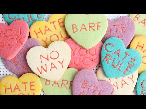Anti Valentine S Day Conversation Heart Cookies Easy Colored