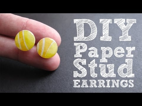 DIY Paper Stud Earrings - Cute & Colorful Upcycled Jewelry Tutorial