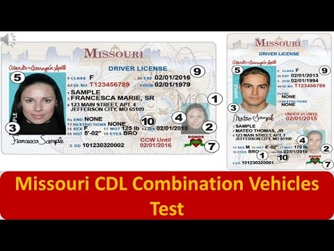 Missouri CDL Combination Vehicles Test