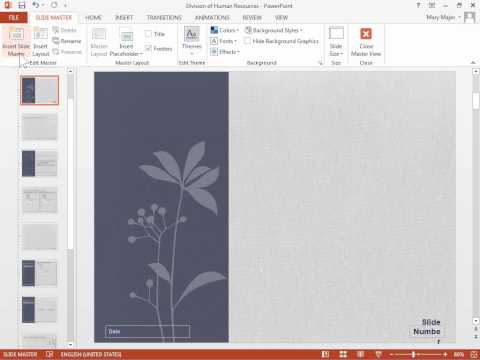 PowerPoint 2013 Apply Multiple Slide Designs to One Presentation