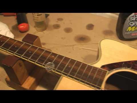 Acoustic Guitar Bridge Saddle Shave