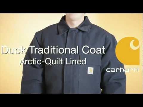 C003 Carhartt Duck Traditional Coat - Arctic-Quilt Lined