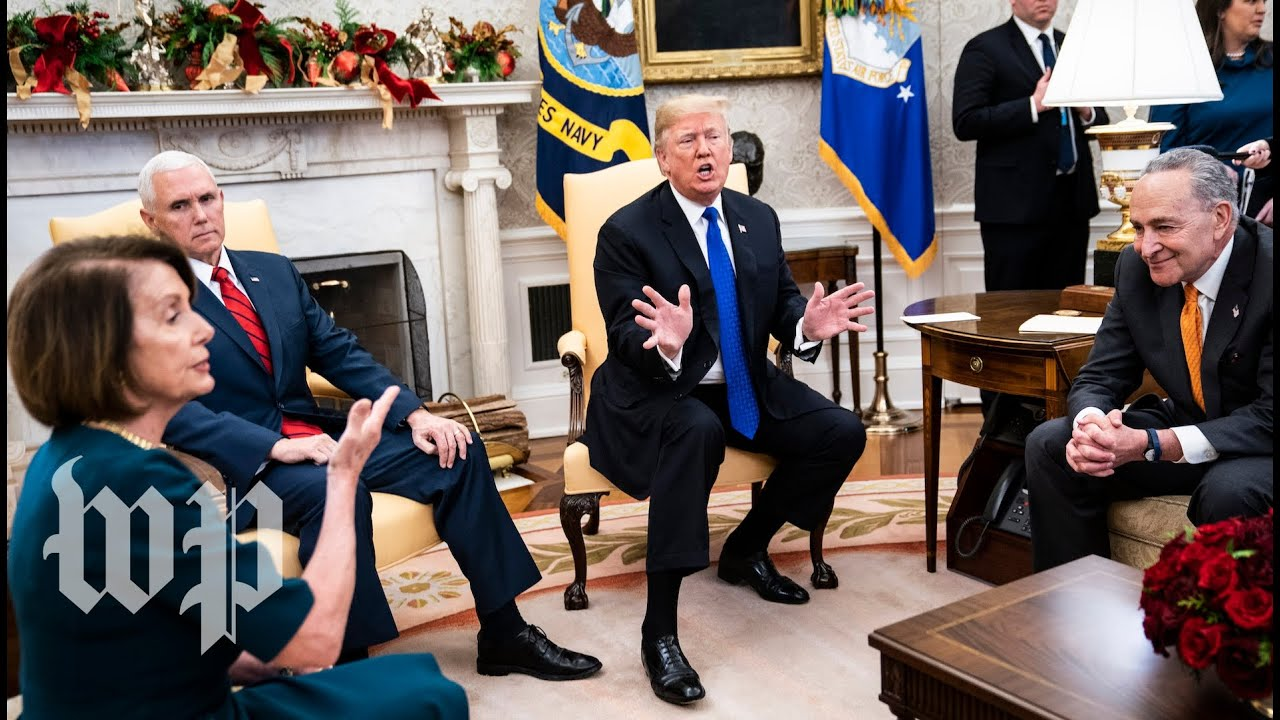 Watch the full, on-camera shouting match between Trump, Pelosi and Schumer | The Washington Post
