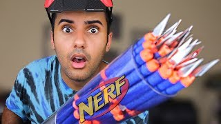 STRONGEST NERF GUN OF ALL TIME!! MOST DANGEROUS MOD EDITION (SHOOTS 100 DARTS!) *INSANELY DANGEROUS*