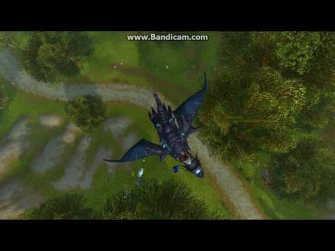 Flying in Loop-the-Loops and Upside- Down infront of Stormwind! World Of Warcraft