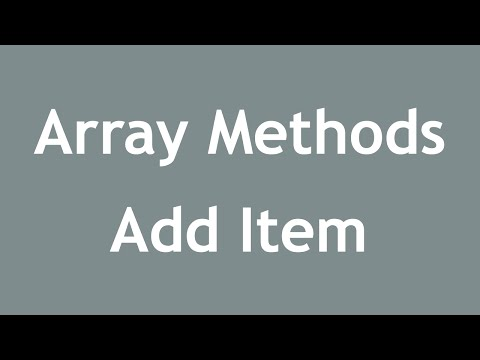 [ Learn PHP 5 In Arabic ] #37 - Array Methods - Add Items