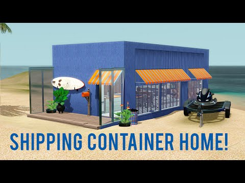 The Sims 3 Speed Build — Shipping Container Home
