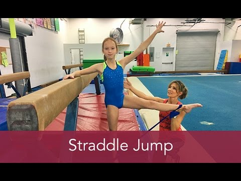 Gymnastics How To: Straddle Jump