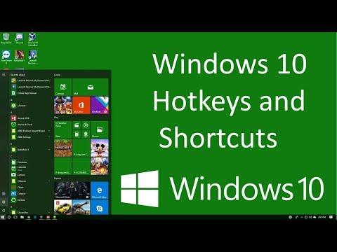 Windows 10 Hotkeys and Shortcuts