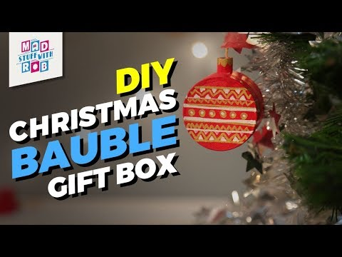 How to make a DIY Christmas Bauble Gift Box