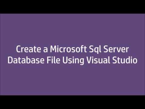 Create Sql Server Database File Using VisualStudio 2015