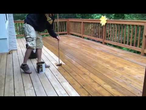 TWP deck stain maintenance coat