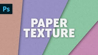 Paper Texture Effect | Photoshop Tutorial