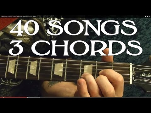 ANYONE Can Play These 40 EASY Rock Songs, THREE Chords! - Guitar Lesson
