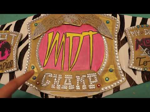 CUSTOM CHAMPIONSHIP TITLE CARDBOARD REPLICA! HOW TO MAKE YOUR OWN!