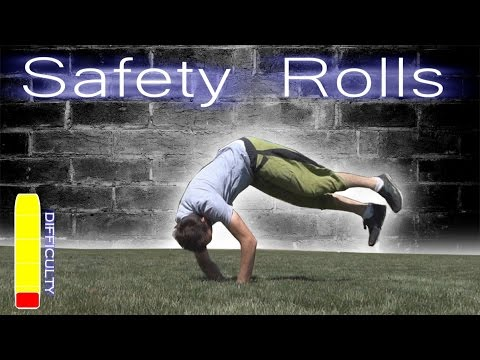 PARKOUR SAFETY ROLLS Tutorial - Forward Roll, Side Roll, Back Roll