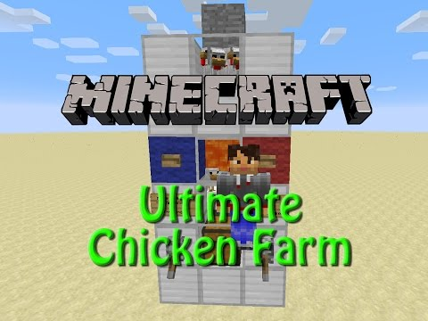 Minecraft: Ulitimate Chicken Farm 1.9, Tutorial Eggs, Raw / Cooked Chicken and Feathers